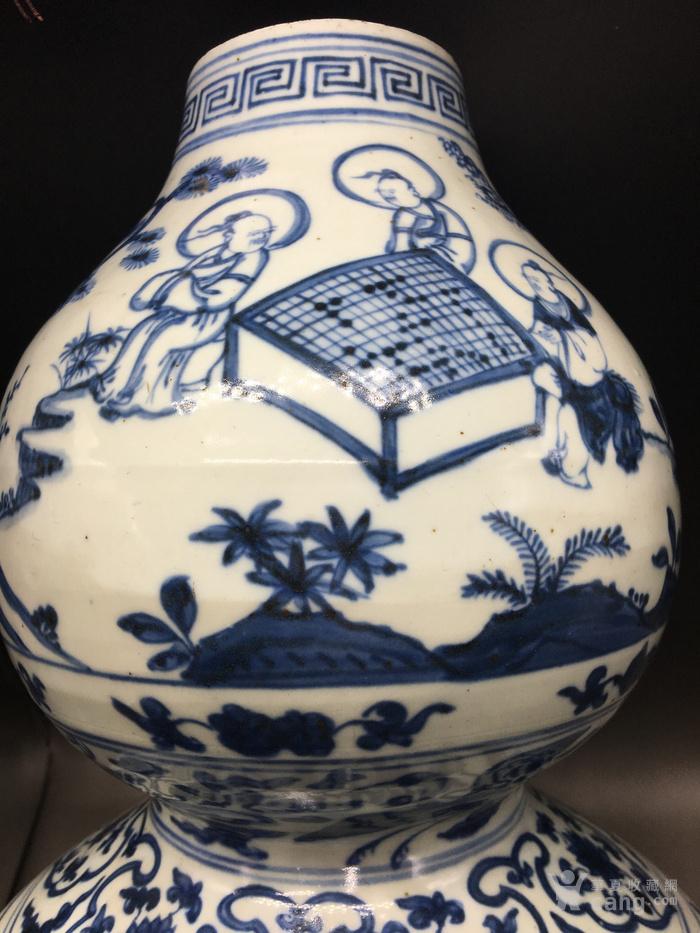 明青花人物故事琴棋书画超大件葫芦瓶见细图喜欢的询价图4