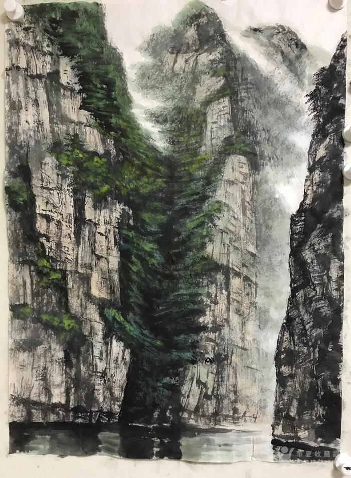国画山水 峡江图1