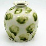 唐花斑釉翰林刻款细瓷罐