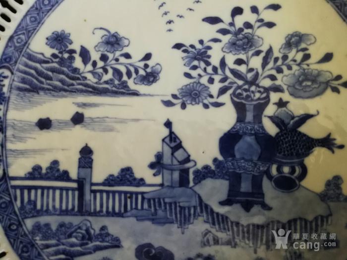 乾隆镂空博古花卉纹大盘图4