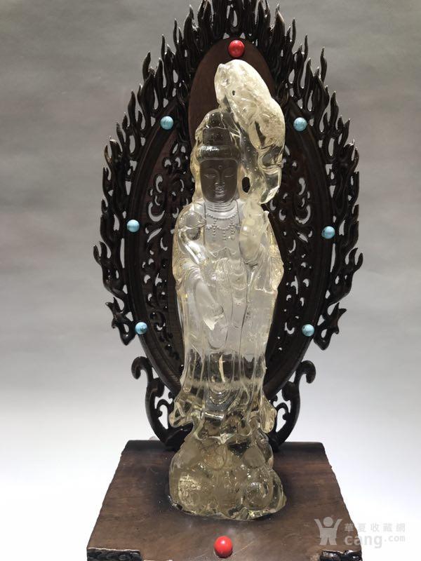清代天然水晶观音菩萨图2