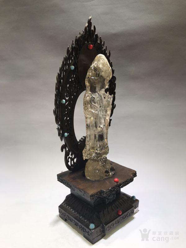清代天然水晶观音菩萨图5