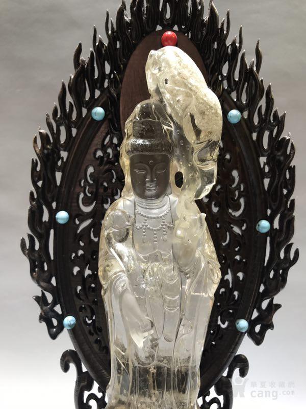清代天然水晶观音菩萨图3