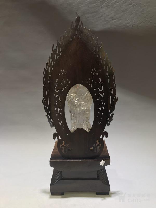 清代天然水晶观音菩萨图9