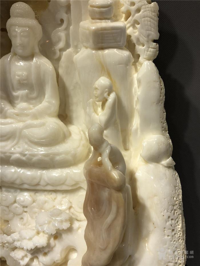 清代砗磲雕刻观音菩萨摆件图6