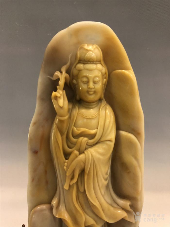 清代寿山石观音菩萨像图3