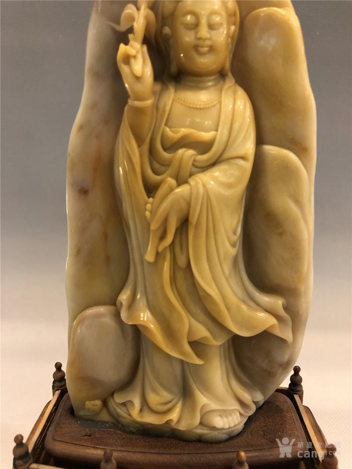 清代寿山石观音菩萨像图4