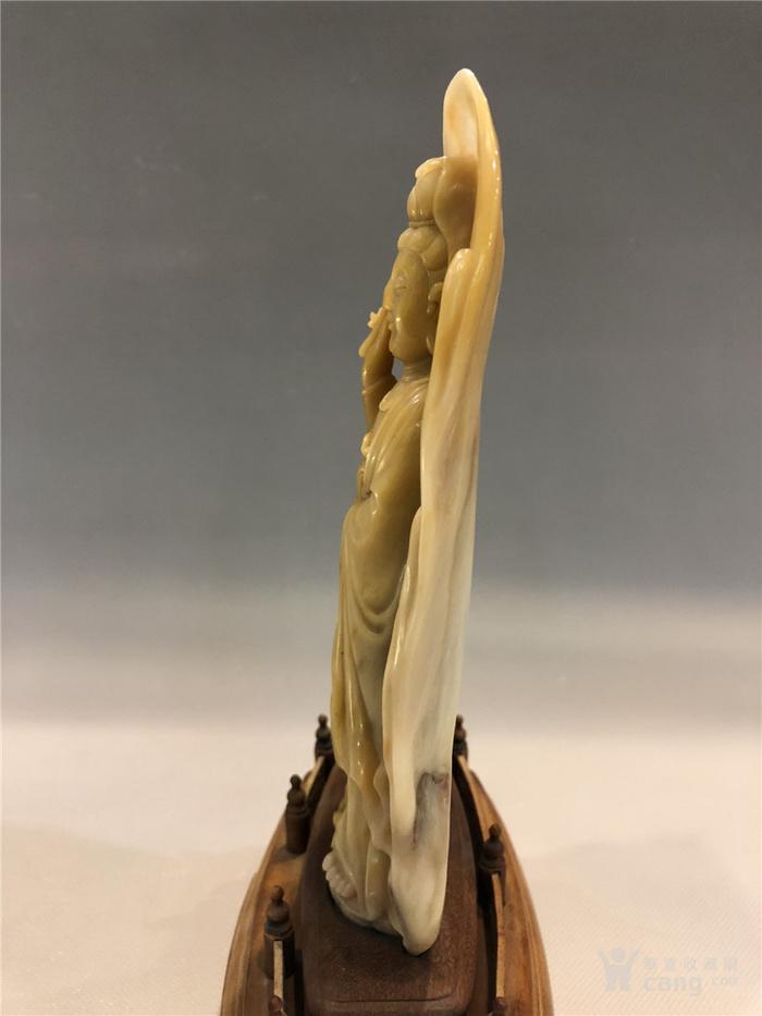 清代寿山石观音菩萨像图6