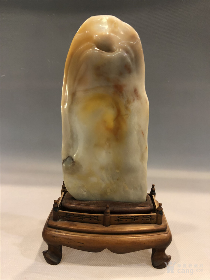 清代寿山石观音菩萨像图8