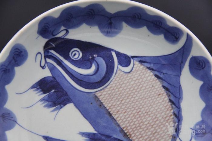 清乾隆青花釉里红鱼纹盘图3