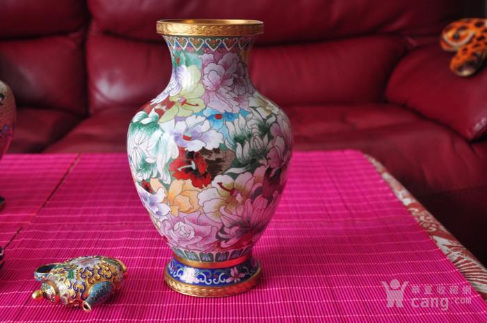 景泰蓝花瓶 出口创汇时期图3