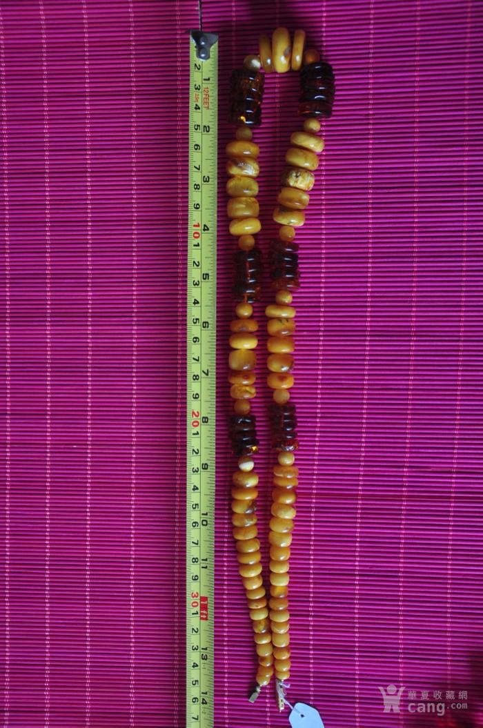 天然老蜜蜡 琥珀项链夫妻对  镇店之宝图9