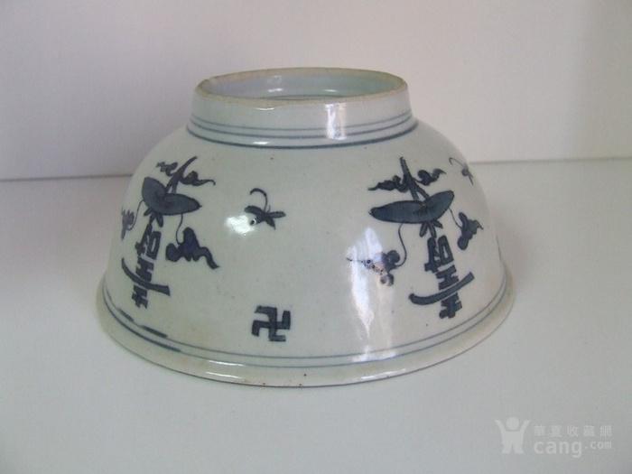大明成化年制 寿字纹全品青花碗图6