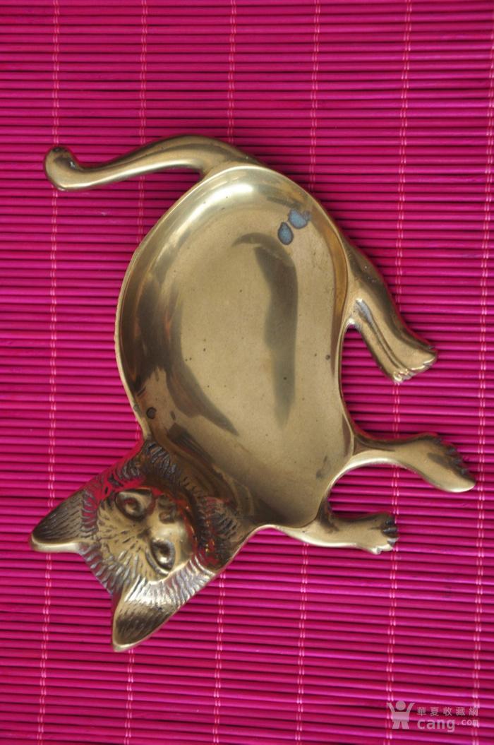 黄铜猫形多用器图1