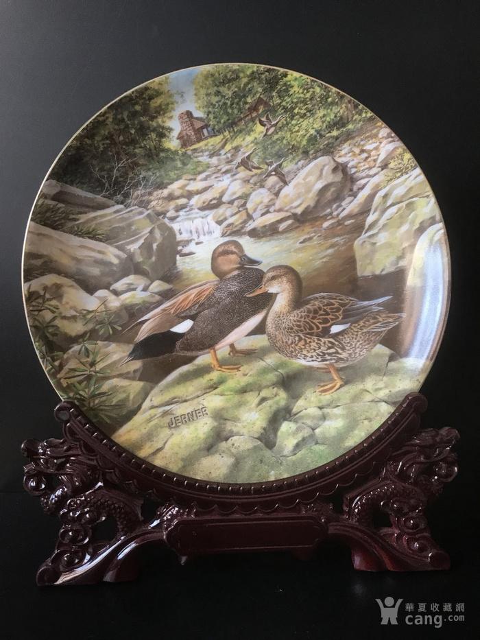 美国艺术瓷盘图1