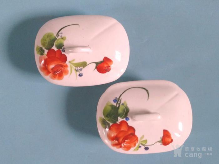超美,纯手绘玫瑰盒一对 全品图1