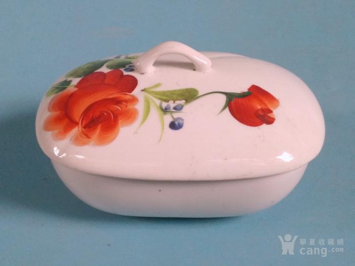 超美,纯手绘玫瑰盒一对 全品图7