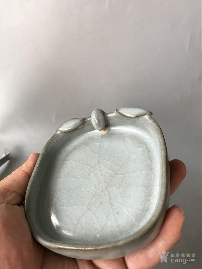 开片笔洗老窑瓷器图2