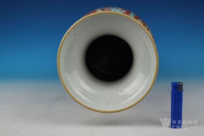 清同治通景粉彩 群仙荟萃 纹大瓶,高46cm图3