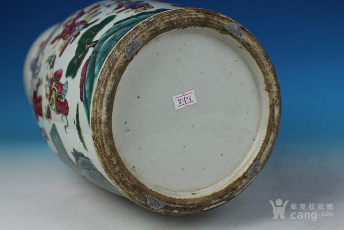 清同治通景粉彩 群仙荟萃 纹大瓶,高46cm图12