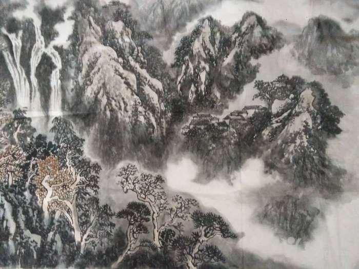 《云壑鸣泉》图3