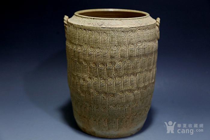 原始青瓷印纹筒形罐图3