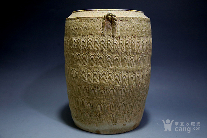 原始青瓷印纹筒形罐图2