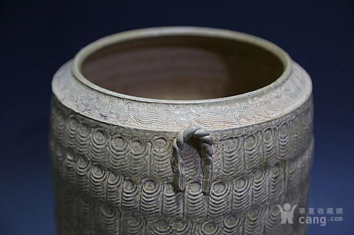 原始青瓷印纹筒形罐图5