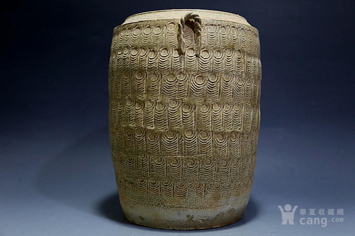 原始青瓷印纹筒形罐图4