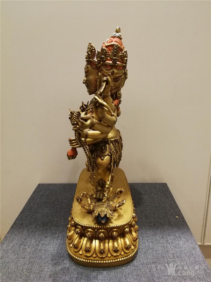 大明永乐铜鎏金佛像图4