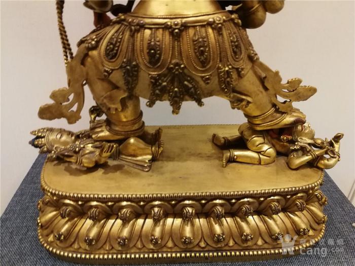 大明永乐铜鎏金佛像图8