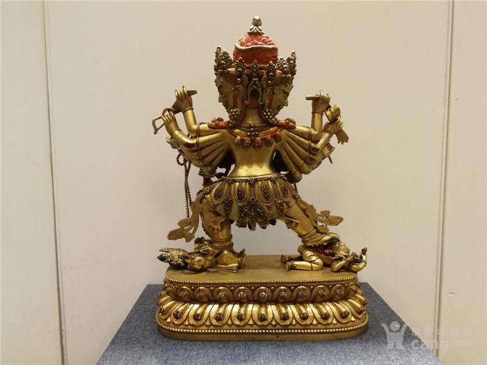 大明永乐铜鎏金佛像图6