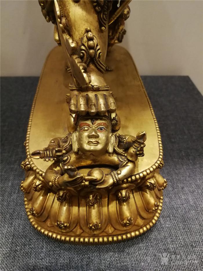 大明永乐铜鎏金佛像图10