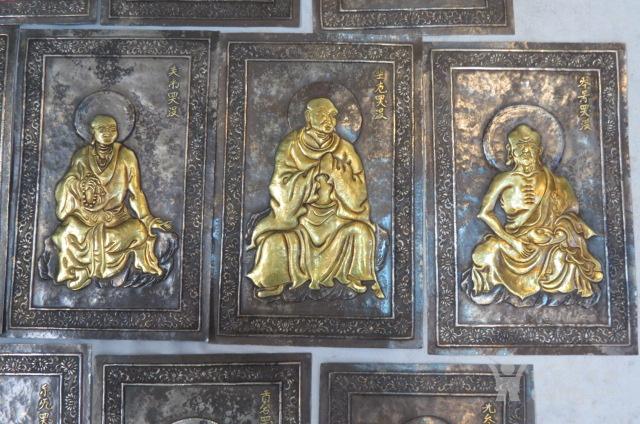 辽代纯银鎏金十六罗汉一套图4