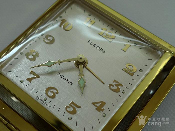 70年代德产 欧罗巴 旅行闹钟 皮壳  183 品好图2