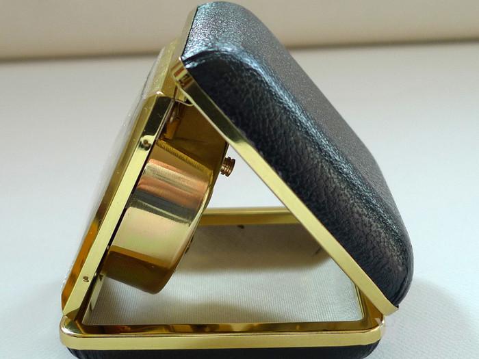70年代德产 欧罗巴 旅行闹钟 皮壳  183 品好图3