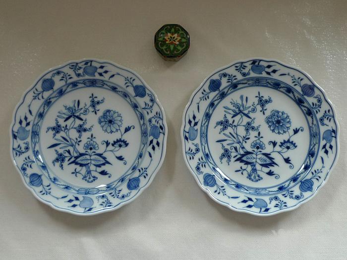 德国麦森1924 34青花瓷盘一对 欧洲名瓷翘楚图9