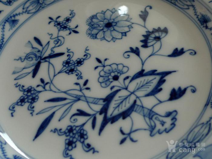 德国麦森1924 34青花瓷盘一对 欧洲名瓷翘楚图2