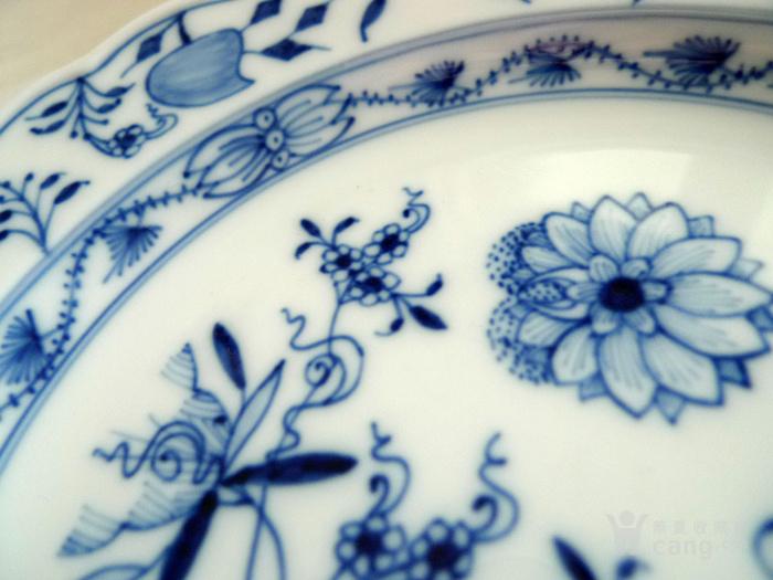 德国麦森1924 34青花瓷盘一对 欧洲名瓷翘楚图3