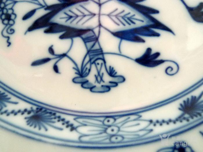 德国麦森1924 34青花瓷盘一对 欧洲名瓷翘楚图5