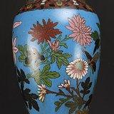 清代 铜胎掐丝珐琅 花鸟纹 莲子盖罐  三件包国际邮费