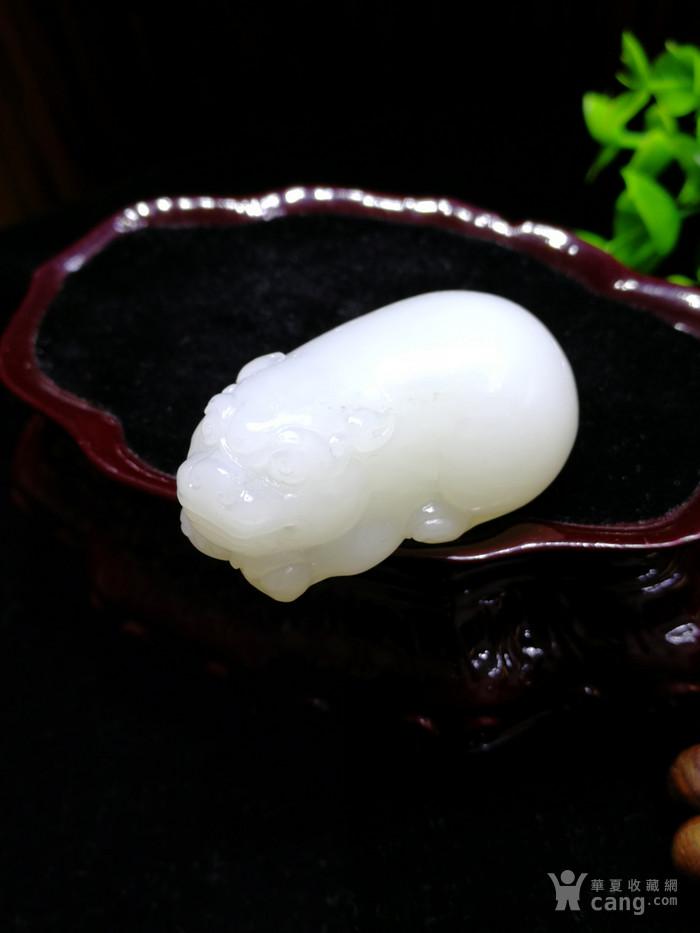 新品和田玉羊脂白玉籽料立体小貔貅挂件吊坠苏工图2