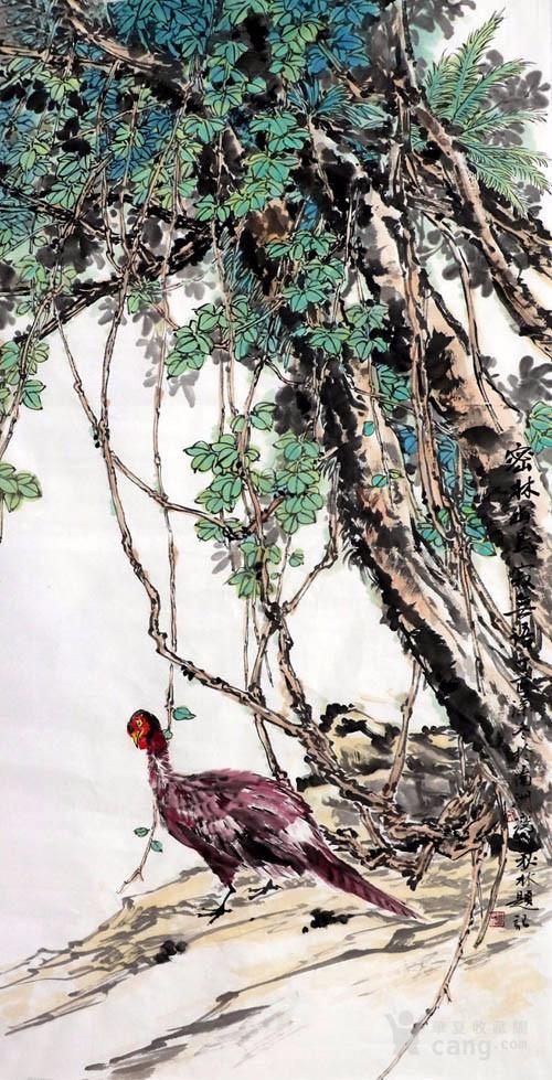 文秋林  183 四尺花鸟图8