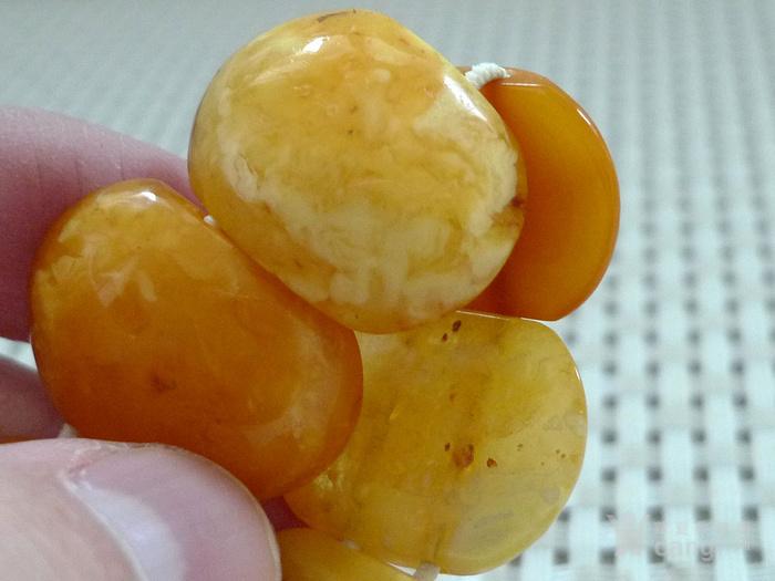 鸡油黄天然蜜蜡手排图2