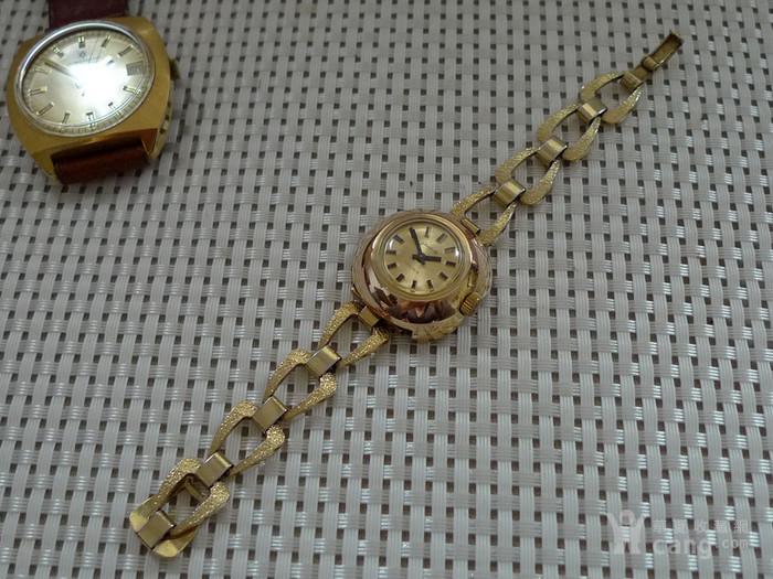 德国原产格拉苏蒂女士机械腕表 14K镀金,防水图1
