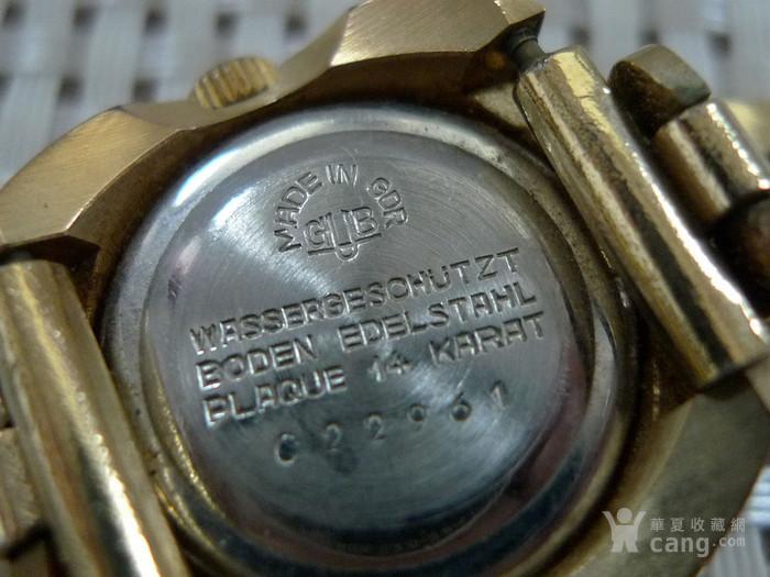德国原产格拉苏蒂女士机械腕表 14K镀金,防水图5