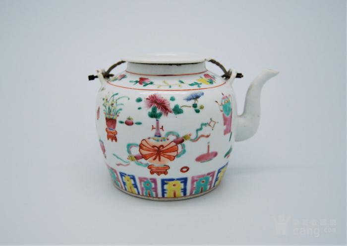清 粉彩八宝纹茶壶d70图1