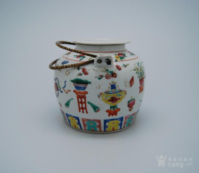 清 粉彩八宝纹茶壶d70图2