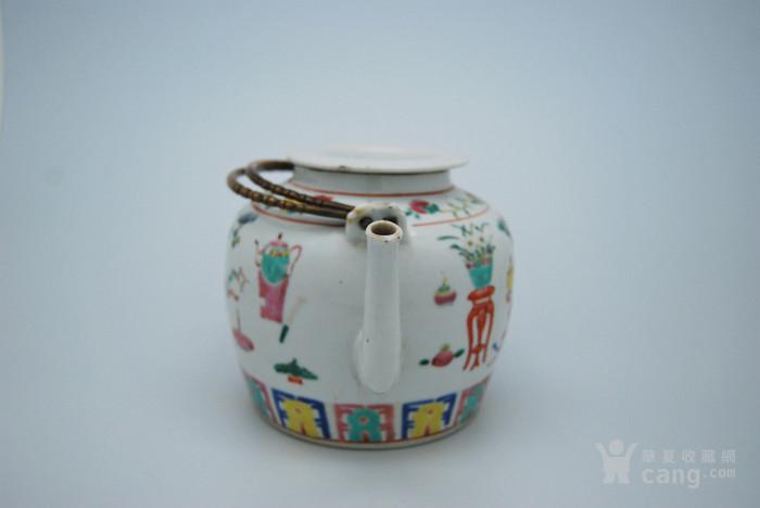 清 粉彩八宝纹茶壶d70图4