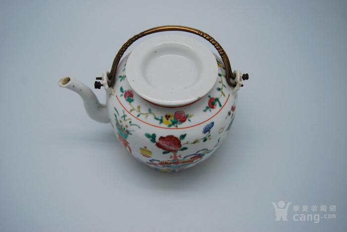 清 粉彩八宝纹茶壶d70图5